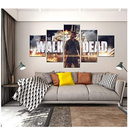 chtshjdtb The Walking Dead Staffel 8 Rick Filmplakat Leinwand Malerei Kunst Bilder Druck Wohnzimmer Wohnkultur Geschenke-40X60 40X80 40X100Cm Kein Rahmen