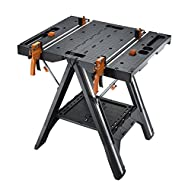 WORX WX051 Pegasus Multi-Function Work Table and Sawhorse with Quick Clamps and Holding Pegs