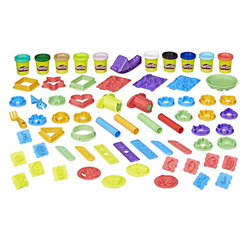 Play-Doh Play Date Party Crate Arts n Crafts over 40 Tools with Accessories, with Play-Mat -  (2 Pack)