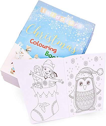 36 Mini Libros Colorear Navideños para Niños| Actividad Creativa para Infantiles| Calendario Adviento y Relleno de Calcetines de Navidad, Piñatas, Fiestas Cumpleaños Navidad, Bolsas Fiesta, Regalos.