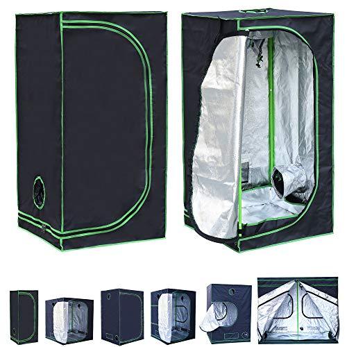 Rapid Teck® Grow Zelt (60 x 60 x 180 cm) Home Grow Tent | Indoor Growzelt | schwarz grün | Growroom Growschrank Darkroom Pflanzenzelt Gewächshaus Zuchtzelt Growzelt