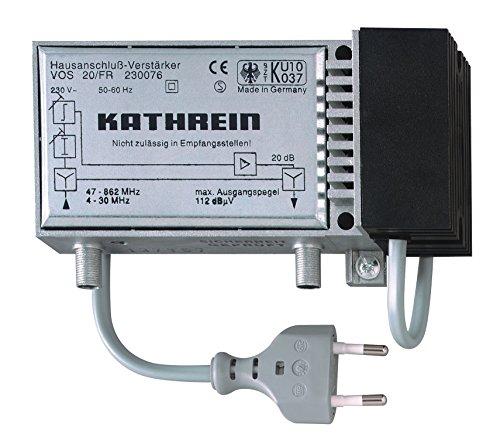 Kathrein VOS 20/FR Hausanschluss-Verstärker (20 dB, 47-862 MHz, Rückweg 4-30 MHz, für Kabelfernsehen)