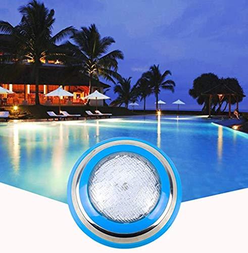 SMAA LED Unterwasserschwimmbecken Beleuchtung, 12V 24W RGB mit Remote / 7 Farbwechsel, Wand Surface Mounted IP68 wasserdicht, für Dekorieren Pool, Steingarten, Brunnen, Teich