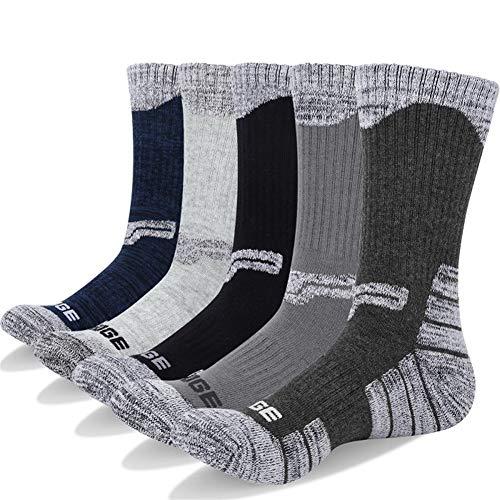 EFGUFHC Calcetines de compresión de algodón de 5 Pares for Hombre Trekking Calcetines de Senderismo Formales Meia Contraste Color Designer Brand Fit Cómodo y Ligero
