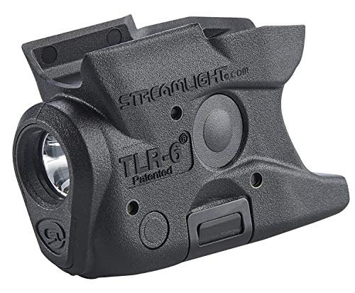 Streamlight 69283 TLR-6 Tactical Pistol Mount Flashlight 100 Lumen without Laser Designed Exclusively and Solely for M&P Shield 40/Shield 9, Black, Without Laser