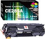 (Single Pack) Green Toner Supply Compatible CE285A 85A Toner Cartridge 285A Used for HP Laserjet Pro P1102w P1109w M1212nf M1217nfw Printer
