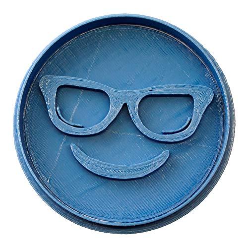 Cuticuter Emoticono Gafas Whattsapp Cortador de Galletas, Azul, 8x7x1.5 cm