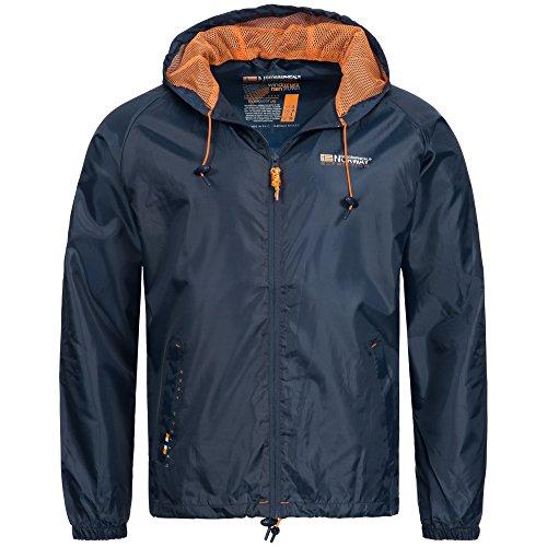 Geographical Norway Baxter Herren Jacke Regenjacke Winbreaker Outdorr mit Tasche, Größe:S;Farbe:Navy