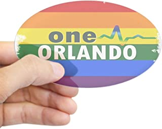 CafePress One Orlando Strong Pulse Sticker Oval Bumper Sticker, Euro Oval Car Decal