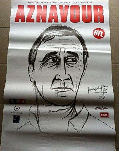 Charles Aznavour-Bernard Buffet, 80 x 120 Cm/Poster mostra