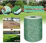 LOVER Biodegradable Grass Seed Mat No Seeds,Grass Grow Mat Landscaping Erosion Control...