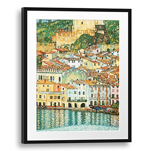 Printed Paintings Passepartout (60x80cm): Gustav Klimt - Malcesine am Gardasee (1913)