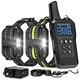 FunniPets Dog Training Collar, 2600ft Range Dog Shock Collar Waterproof Shock Collar for 2 Dogs with 4 Training Modes Light Static Shock Vibration Beep
