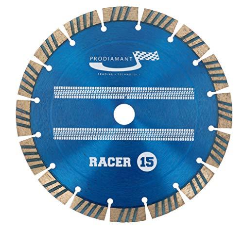 PRODIAMANT Disco de corte de diamante para hormigón, 230 x 22,23 mm, disco de corte de diamante, 230 mm, calidad superior, altura de segmento 15 mm