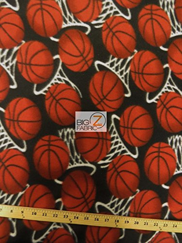 Basketball Hoops Fleece Fabric Sold by The Yard Baby Blanket