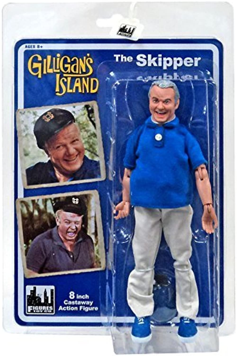 Gilligan's Island 8 Inch Action Figures Series 1  Skipper