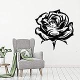 wZUN Flor de pétalo de Rosa Vinilo Arte Flor Pegatina decoración de habitación calcomanía 85X90cm