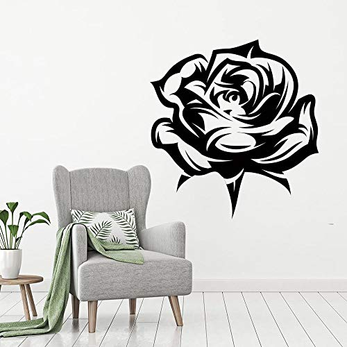 JXMN Etiqueta engomada de la Flor del Arte del Vinilo de la Pared de la Flor del pétalo de Rosa para la Etiqueta de la decoración de la habitación 102x108cm