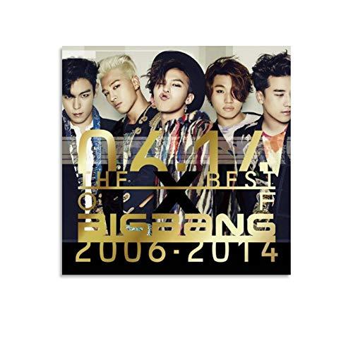 Qiuni Big Bang The Best of Big Bang - Lienzo decorativo para pared, diseño de álbum de 60 x 60 cm