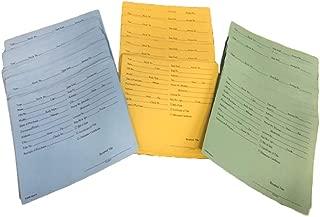 Vehicle Deal Envelopes Dealer Jackets File Folders (Pack of 25 Blue / 25 Manila / 25 Green)