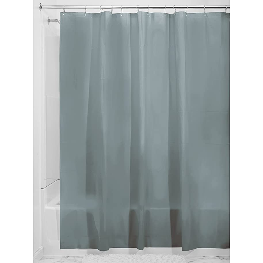 InterDesign Vinyl Plastic Shower Liner, PVC-Free Mold- and Mildew-Resistant Curtain with Magnets for Master, Guest, Kids' Bathroom, Bathtub, 72