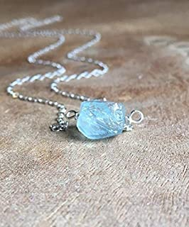 rough aquamarine necklace
