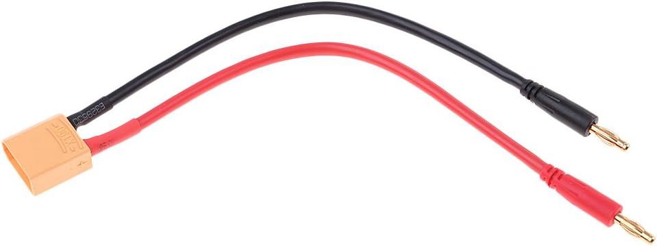 XT90 sharprepublic C/âble De Remplissage Dadaptateur De Prise Banane De 4.0mm 14AWG Chargeant pour La Batterie De RC Lipo