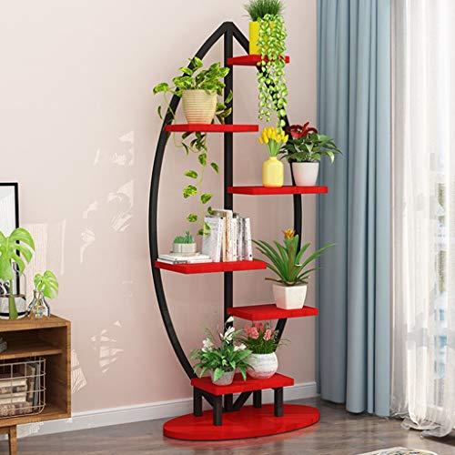 Plant Stands- Grand Support d'usine incurvé créatif en Acier, présentoir Polyvalent pour Fleurs/Livres/bonsaï, présentoir d'intérieur pour bonsaï