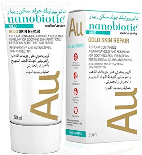 Nanobiotic  GSR  Crema innovadora para eccema, psoriasis, rosácea y dermatitis - Reduce la sequedad y la inflamación - Tratamiento para la piel picante, agrietada e irritada