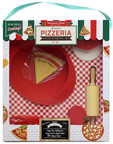 Handstand Kitchen Authentic Pizzeria 9-piece Real Pizza Making Set with Recipes