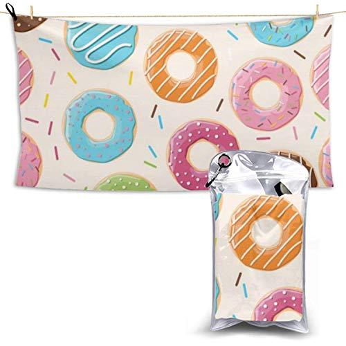 Toalla de Playa Toalla sin Arena, Toallas de baño de Microfibra Altamente absorbentes de Secado rápido Toallas de baño Coloridas Donut Regalos de Verano