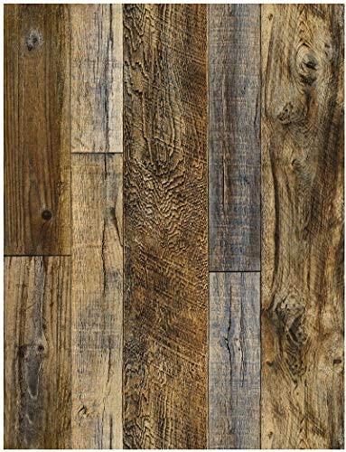 Wood Peel and Stick Wallpaper Shiplap Brown Self Adhesive Removable Wallpaper Waterproof Shelf product image