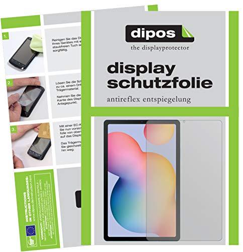 dipos I 2X Schutzfolie matt kompatibel mit Samsung Galaxy Tab S6 Lite Folie Bildschirmschutzfolie