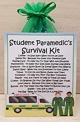 Student Paramedic's Survival Kit - Unique Fun Novelty Gift & Card All In One by