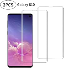 Galaxy S10 Screen Protector Tempered Glass for Samsung Galaxy S10, 3D Curved Full Screen Coverage, Fingerprint Identificat...