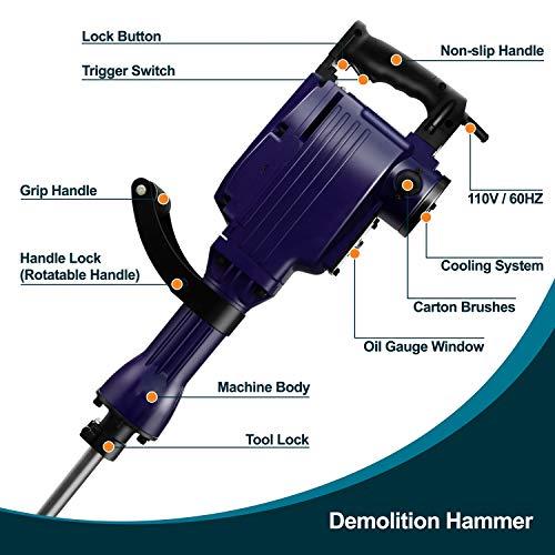 Kinswood Heavy Duty 14A Electric Demoliton Jack Hammer Concrete Breaker