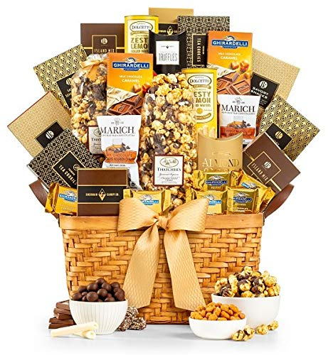 GiftTree As Good As Gold Supreme Gourmet Food & Snack Gift Basket