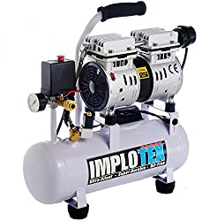 480W Silent Flüsterkompressor Druckluftkompressor nur 48dB leise ölfrei flüster Kompressor Compressor IMPLOTEX