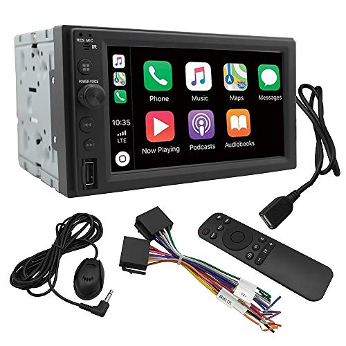 Chaowei CW6200 2Din Car Multimedia Receiver with 6.2' LCD Touchscreen Compatible with Apple CarPlay, Android Auto-Car Stereo with Bluetooth,MP5 Player,2 USB Ports, A/V Input, AM/FM Car Radio