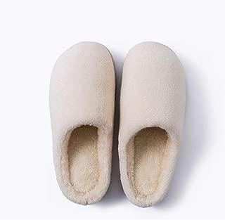 New Winter Home Indoor Warm Slippers Autumn and Winter Women's Soft Bottom Non-Slip Fabric Plus Velvet Cotton Slippers Memory Foam Booties Slip-on Fur Lining/Non-Slip