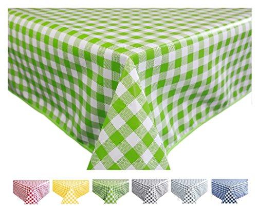 Home Direct Mantel de Hule, Rectangular 140 x 200cm Cuadros Verde