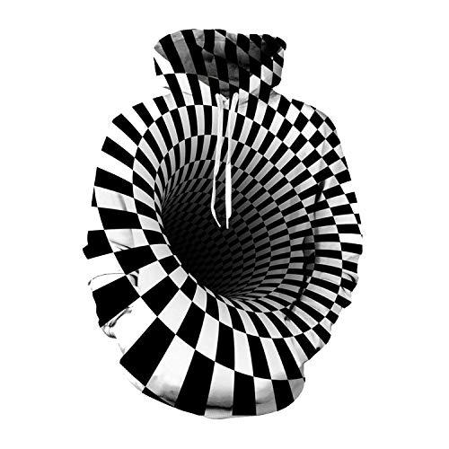 Hypnose Vortex Hoodies Sweatshirt Männer Frauen Plus Size 3D Hoodie Whirlpool Lustige Hip Hop Anzug Street Drucken, 2, XXXL