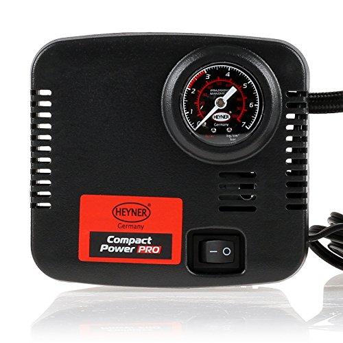 HEYNER® Auto Kompressor elektrische Luftpumpe tragbarer Kompressor Anschluss über Zigarettenanzünder