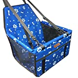 SWIHELP Dog Car Seat Upgrade Portable Pet Booster Car Seat with Clip-On Safety Leash and PVC Support Pipe, Anti-Collapse,Perfect for Small Pets (Blue)