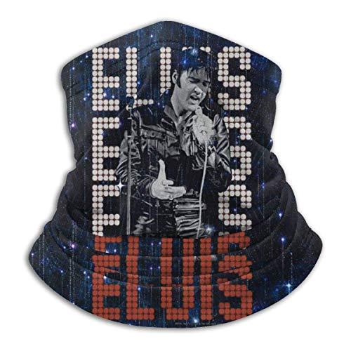 485 Calentador De Cuello para Hombre Mujer,Música De E-Lvis Presley King of Rock and Roll,Bufanda Facial Unisex Cuello Bufanda Adulto Pasamontañas para Caza Correr Yoga