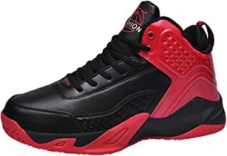 Yong Ding Unisex Fashion Sneakers PU Upper Breathable Shock Absorbing High Top Basketball Shoes for Sports and Athletic Training