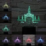 WxzXyubo Regalo de vacaciones del juguete de los niños del castillo LED de la luz de la noche 3D