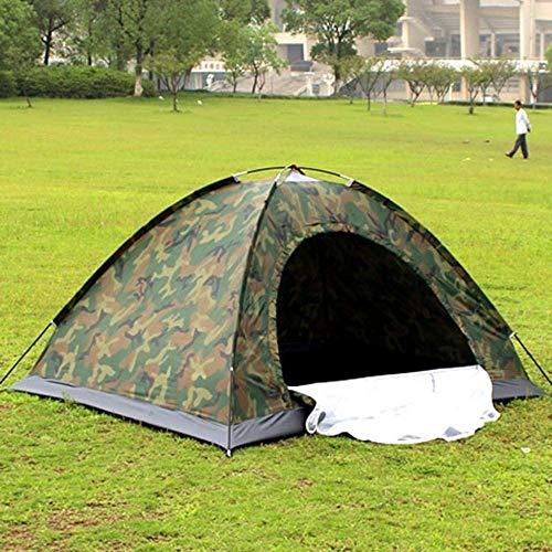 Tienda de campaña para 1 – 2 personas, doble capa, impermeable, resistente al viento, antiUV
