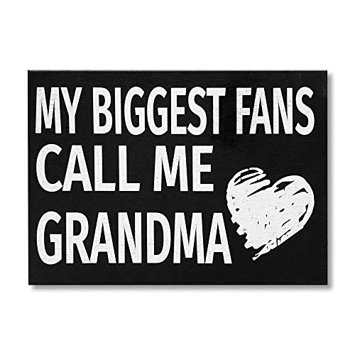 JennyGems My Biggest Fans Call Me Grandma - Stand Up Wood Box Sign - Gifts for Grandma, Grandma Plaque, Grandma Gift, Handcrafted in USA