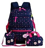 Bfuns Bolso de la Escuela 3 PCS/Set Star PRINCIPANTE NIÑOS Escuela de los niños Bolsas para Las niñas Adolescentes Mochilas Mochilas para niños Mochila (Color : Blue 1, Size : A)